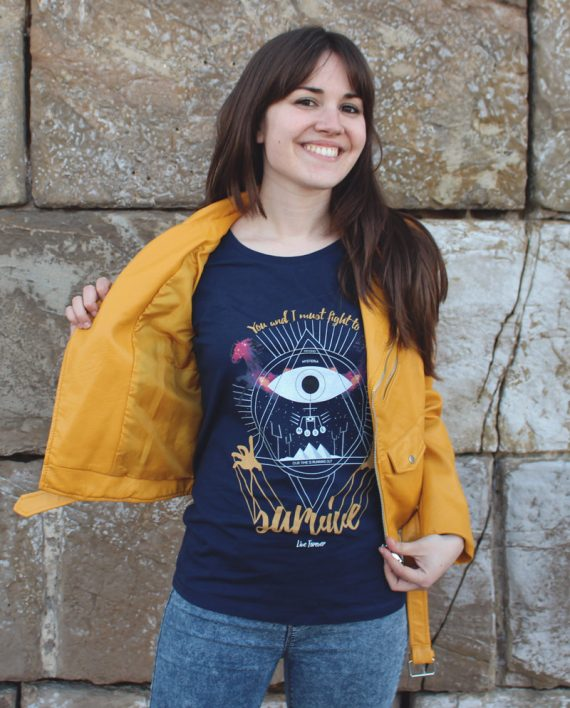 Camiseta Muse Survive Chica - Live Forever