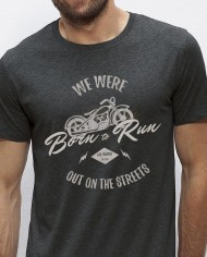 Camiseta Born to run Dark Grey