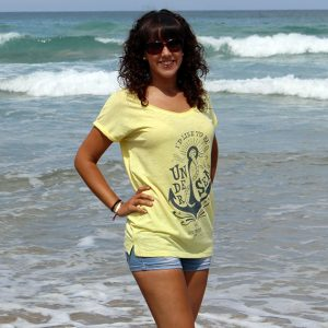 "Camiseta ""Under the sea"" Color Iris Yellow"