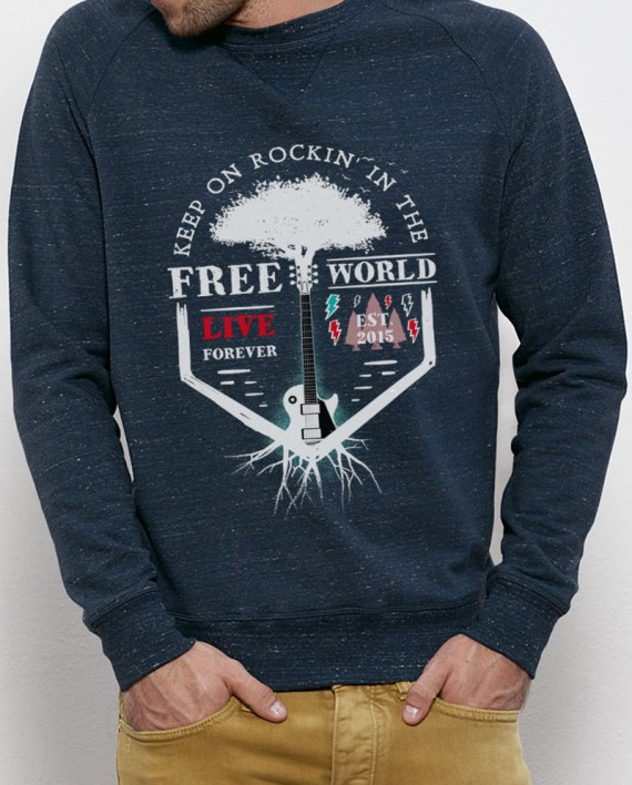 "Sudadera ""Free world"" Denim"