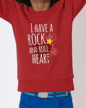 Sudadera Niños - Rock Heart - Roja