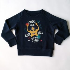 897df1cd9 Rock Star – Sudadera orgánica – Niño a