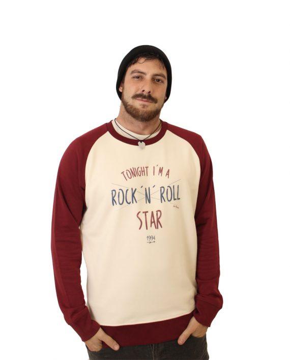 Sudadera Rock n Roll Star - Sudadera Beisbolera - Unisex