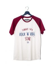Rock n roll star – Camiseta Beisbolera – Unisex
