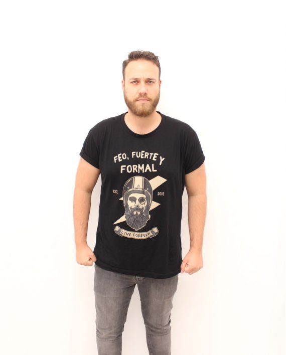 Camiseta Formal - Live Forever