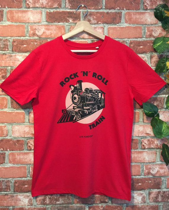 Camiseta Rock and Roll train - Live Forever