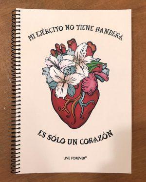 Libreta Corazón - Live Forever