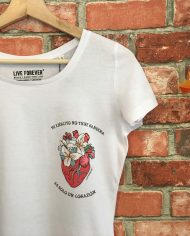 Camiseta Corazón Chica – Live Forever