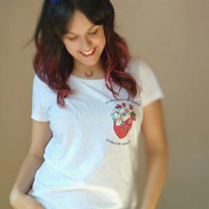 Camiseta Corazón Chica - Live Forever 19cd7e40f6f