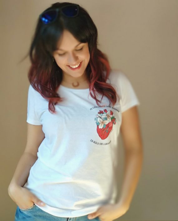 Camiseta Corazón Chica - Live Forever