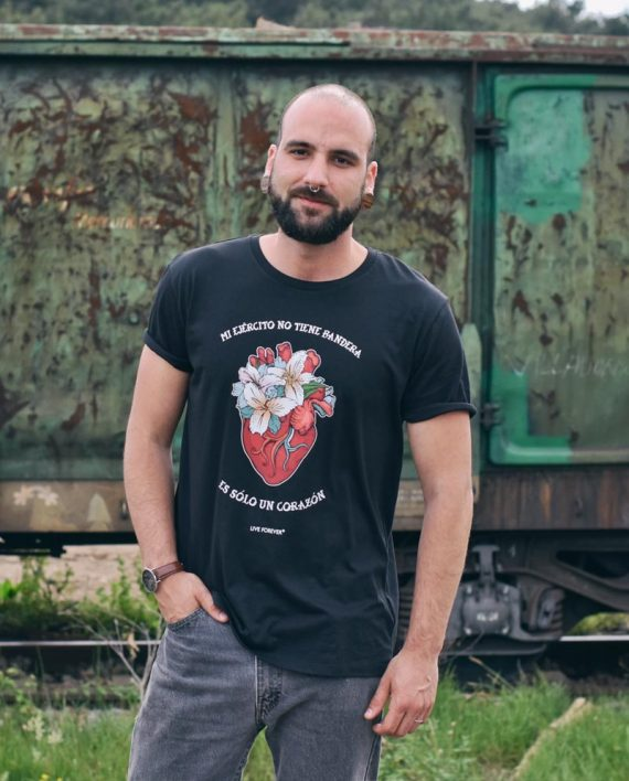 Camiseta Corazón - Camsieta Extremoduro - Live Forever