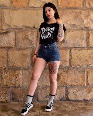 Camiseta Born to be wild – Camiseta Wild Girl – Chica – Live Forever ®