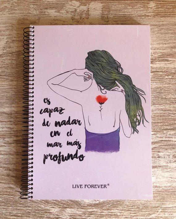 Libreta Amapola - Live Forever
