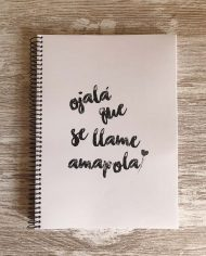 Libreta Amapola – Live Forever