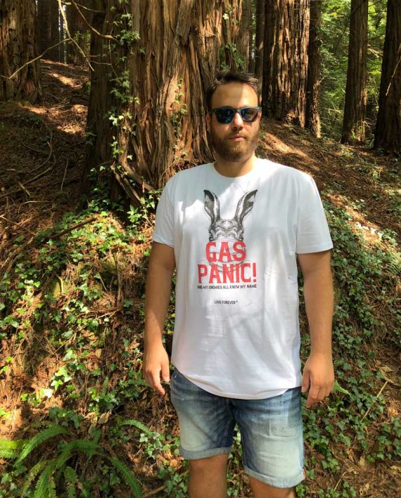 Camiseta Gas Panic - Camiseta Oasis - Camsieta Unisex - Live Forever ®