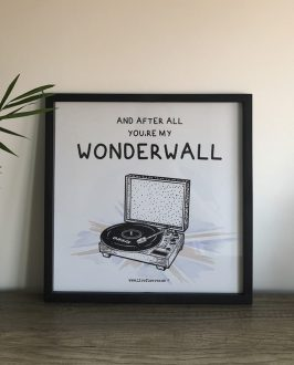 Oasis - Poster Oasis - Wonderwall - Lámina Wonderwall - Live Forever ®