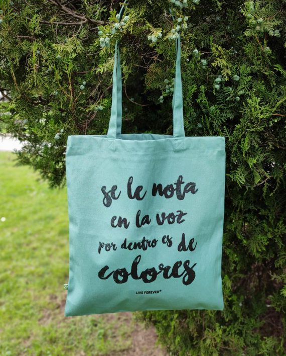 Tote Bag Colores - Tote Bag Extremoduro - Tote Bag de algodón orgánico - Live Forever ®