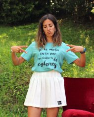 Camiseta Colores – Camiseta Extremoduro – Camiseta Unisex – Camiseta de algodón orgánico – Live Forever ®